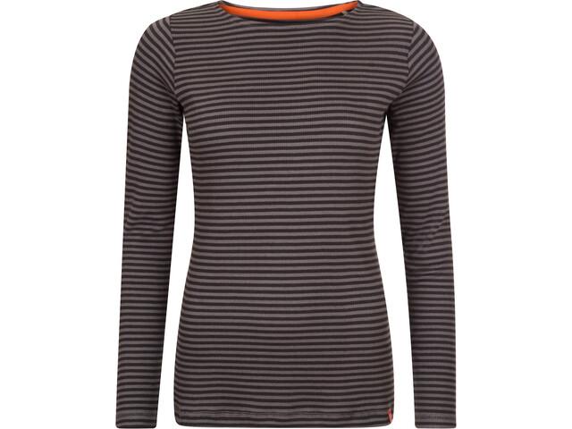 Elkline Lightness Pitkähihainen T-paita Naiset, grey/black